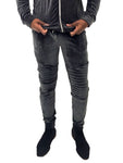 Men Sweatpant Gray Velour by Project X Paris - Brit Boss