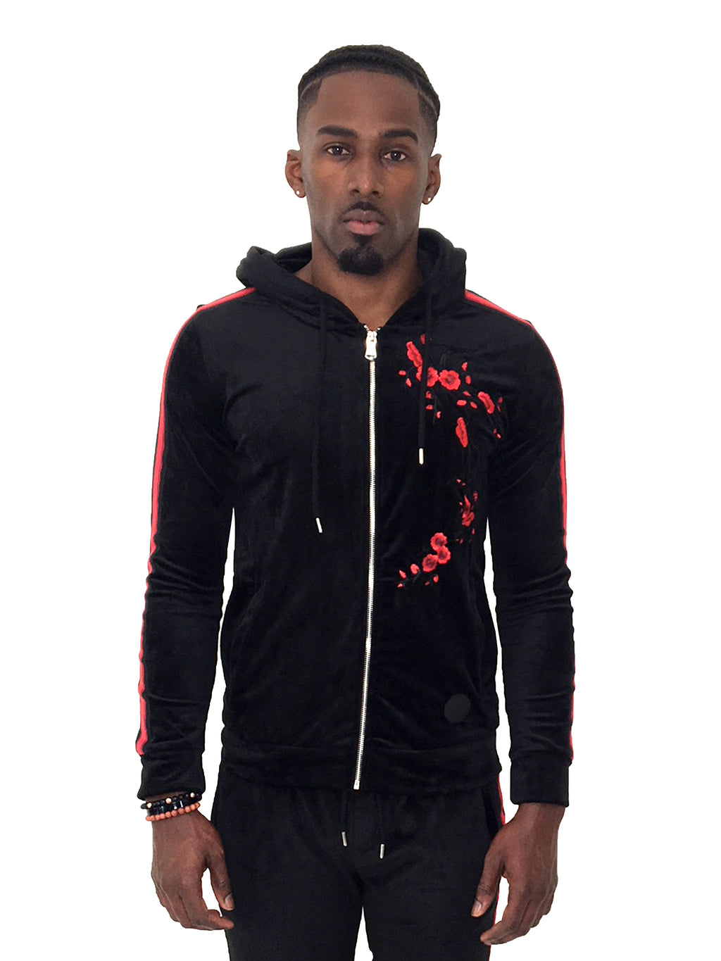 project x paris zip up gradur velour jacket