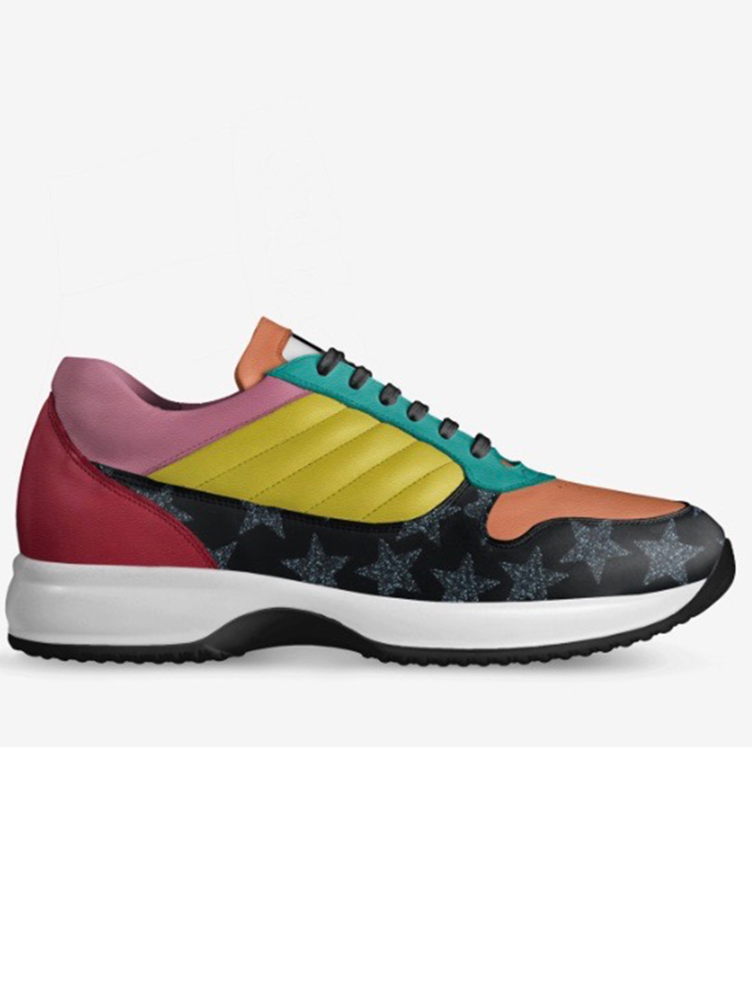 Rainbow Retro  Low Tops Sneakers by Brit Boss - Brit Boss