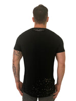 "Men T-Shirt ""Dyed"" Bleach splatter Black by Religion U.K. - Brit Boss"