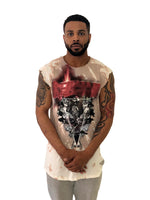 "Men T-Shirt ""Fantastic"" Sleeveless nude Tye Dye Graphic by Religion U.K. - Brit Boss"