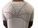 "Men T-Shirt ""Hollywood"" Back Beaded Web White by Replay Italy - Brit Boss"