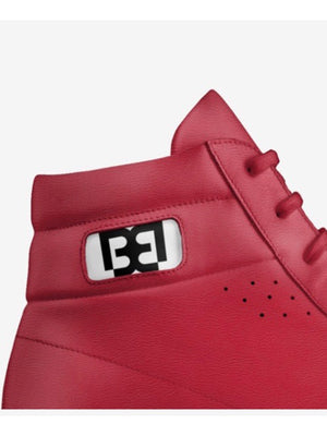 Ruby Red High Tops with Gold Soles - Brit Boss