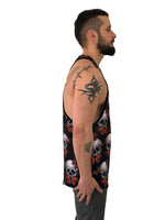 Skulls and Butterflies Black Vest by Sinners Attire - Brit Boss
