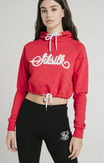 Cropped Raglan Red Hoodie by SikSilk