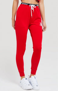 Elastic Poly Red Joggers by SikSilk