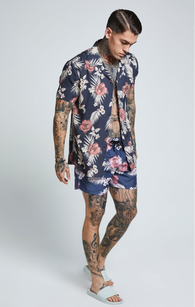 SikSilk  S/S Resort Shirt – Hazey Daze Summer Shirt Men