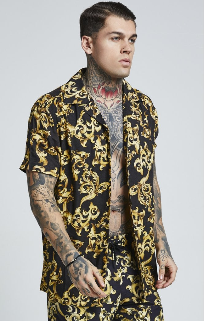 SikSilk S/S Resort Shirt – Venetian Gold