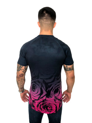 Men T-Shirt Roses Pink by Sinners Attire