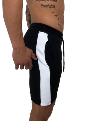 Men Black Track Jersey Shorts by Sinners Attire