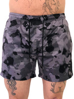 Gray Camo Swim Shorts by Sinners Attire