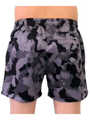 Gray Camo Swim Shorts by Sinners Attire 3