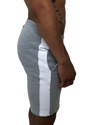 Men Gray Track Jersey Shorts by Sinners Attire - Brit Boss