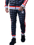 Sinners Attire Black Retro Soccer Poly Track Joggers - Brit Boss