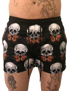Men Butterfly Skull Swim Shorts by Sinners Attire - Brit Boss