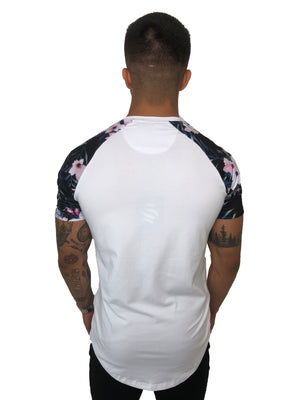 "Men ""White Exotic Raglan Tee"" By Sinners Attire - Brit Boss"