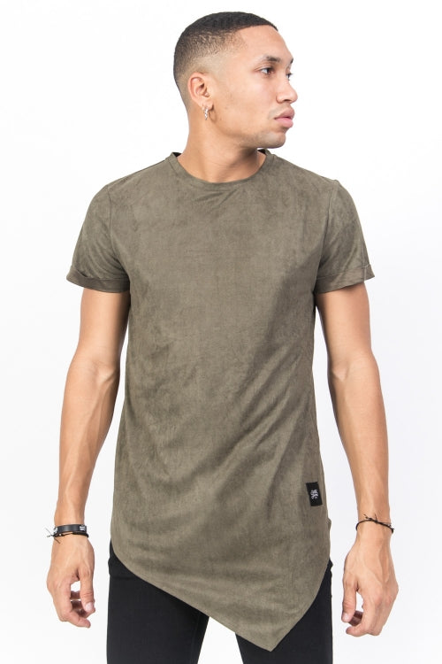 Sixth June Suedette Sharp T-Shirt Men Urban Fashion Tee Camo