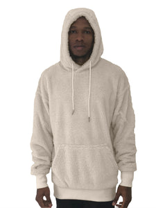 Men Hoodie Soft Cream Sweater By Limited Edition - Brit Boss