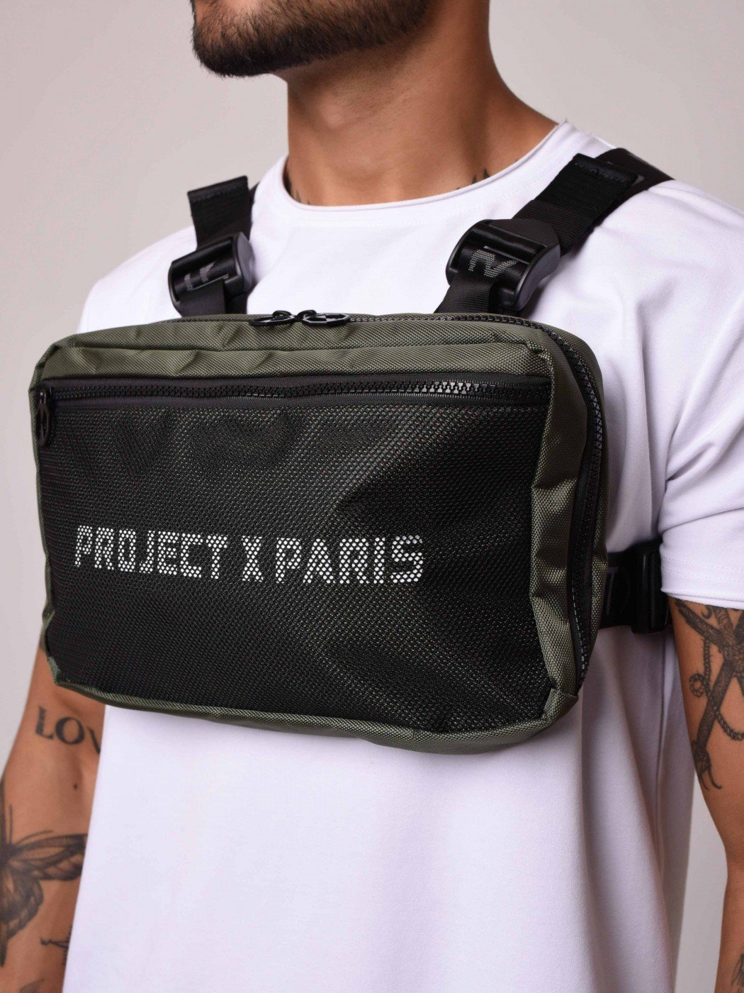 Project X Paris Utility Chest Front Body Bag Khaki