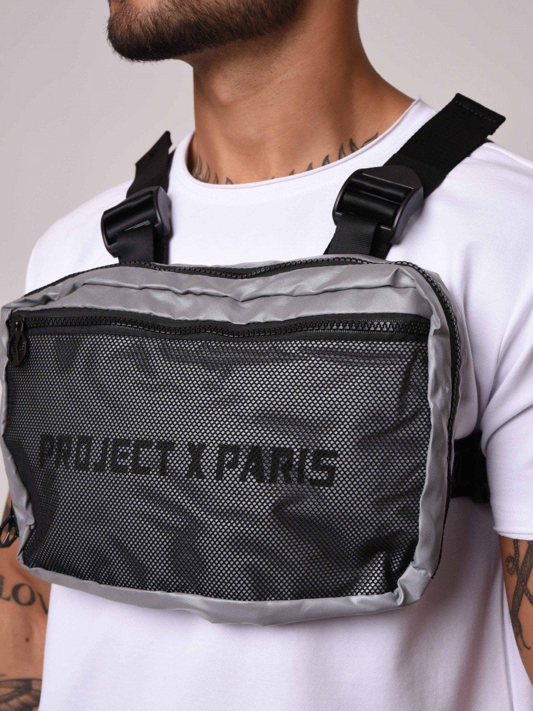 Project X Paris Reflective Utility Chest Front Body Bag