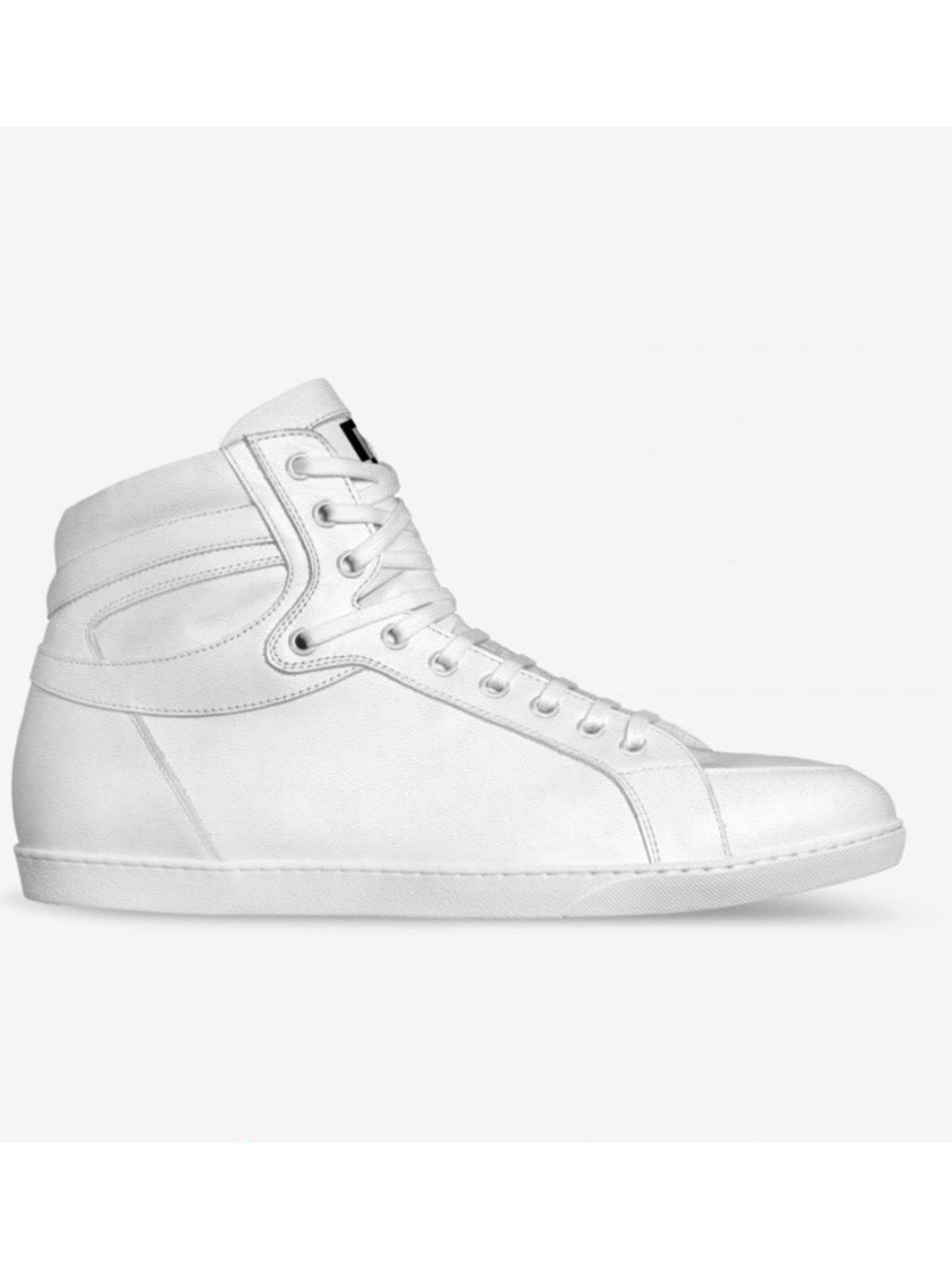 All White Brit Boss High Tops - Brit Boss
