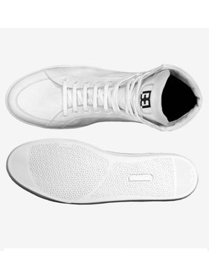 All White Brit Boss High Tops 4