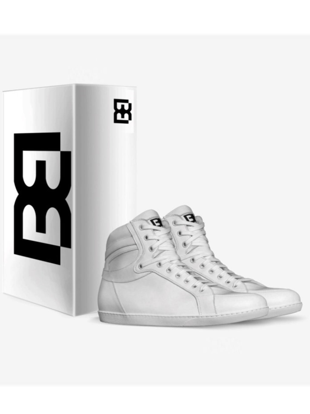All White Brit Boss High Tops