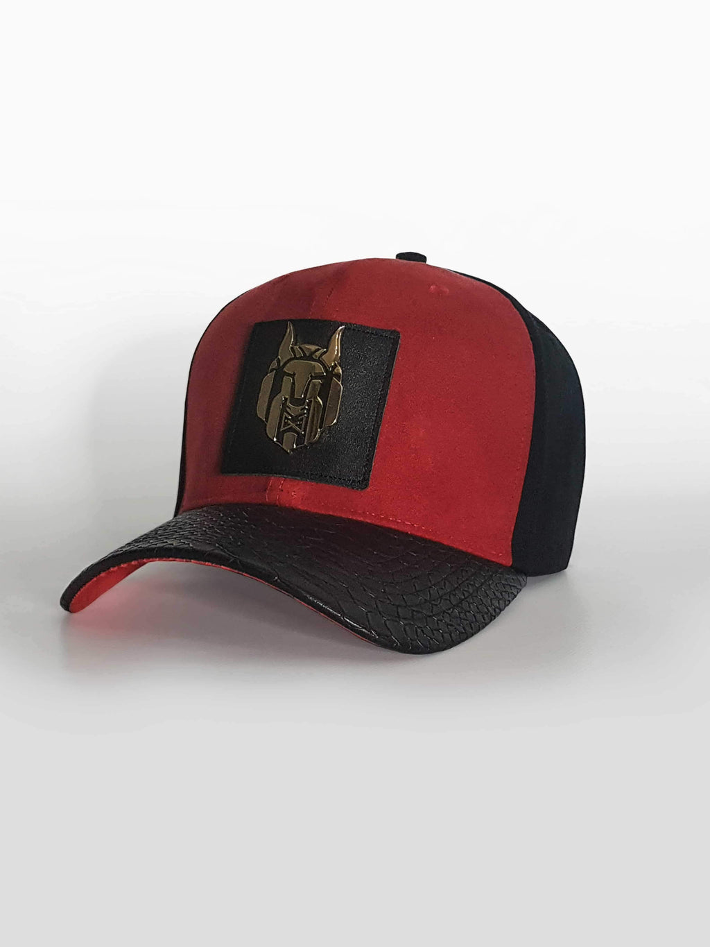 MEN WOLVEZ NOT SHEEP RED SUEDE HAT - Brit Boss