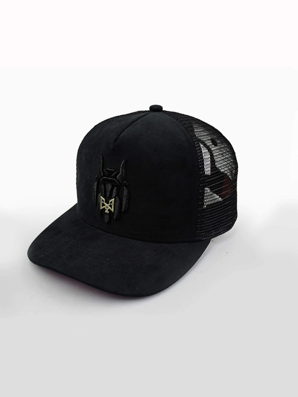 MEN CAP WOLVEZ NOT SHEEP SUEDE TRUCKER - Brit Boss