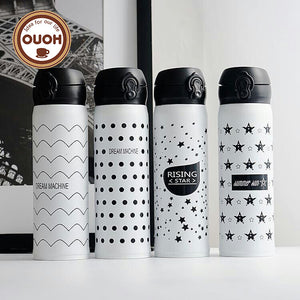 500ML Stainless steel Travel Mug Coffee Tea Vacuum Insulated Thermal Cup Bottle Travel Drink Bottle Garrafa Termica Thermo Mug - Funniest mugs