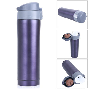 450ML Vacuum Travel Drink Bottle Insulated Thermos Cup Flasks Thermal Coffee Mug Stainless Steel High Quality - Funniest mugs