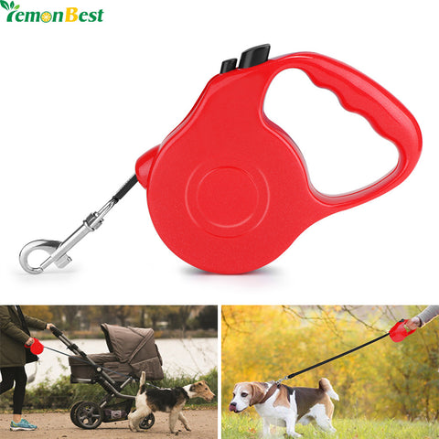 3M 5M  Durable Dog Leash Extending Puppy Walking Leads 5 Colors Retractable Dog Collars Leads - Dude Den