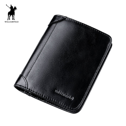 WILLIAMPOLO 2017 Fashion Leather 6 Card Holder SIM Card Holder Folder Short Travel Wallet POLO198 - Dude Den
