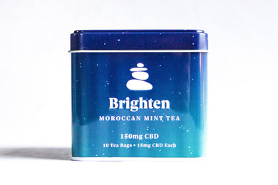 Brighten - Moroccan Mint CBD Tea 150mg - Zerep Holistics