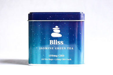 Bliss - Jasmine Green CBD Tea 150mg - Zerep Holistics