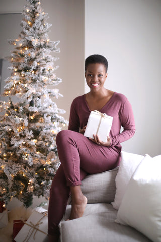 Maroon Romper | Maroon Jumpsuit for Women | Holiday Loungewear