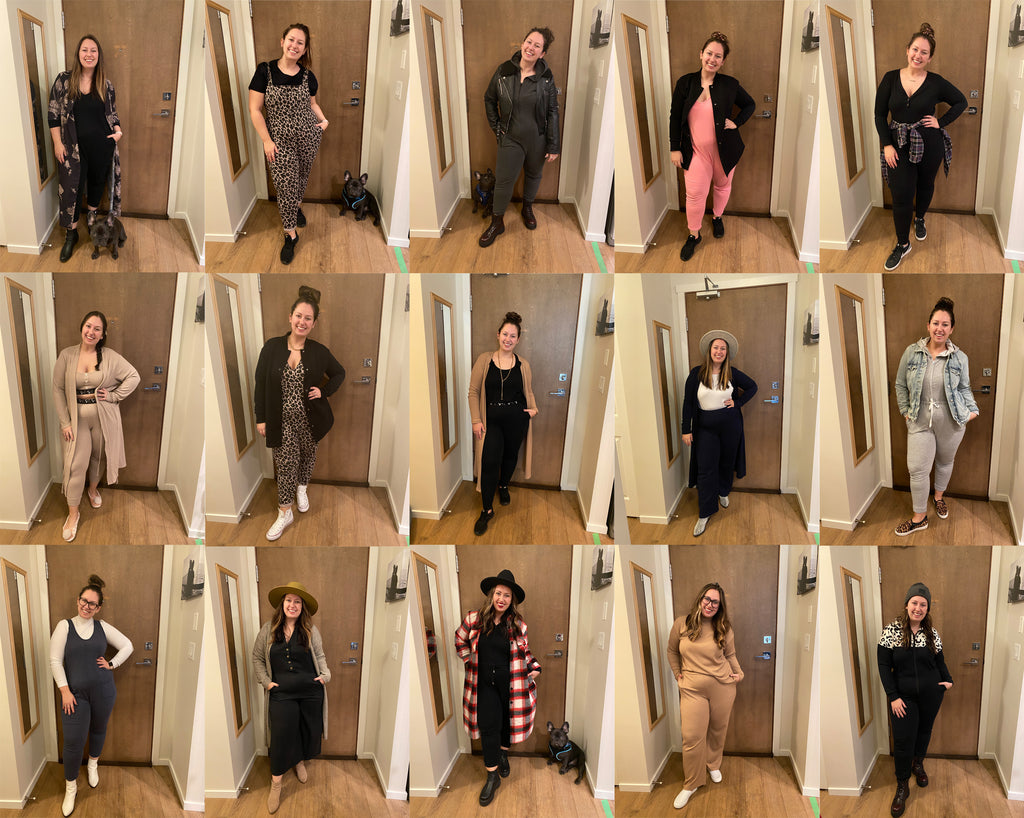 girl styling smash + tess rompers, dresses, tops and pants 30 different ways