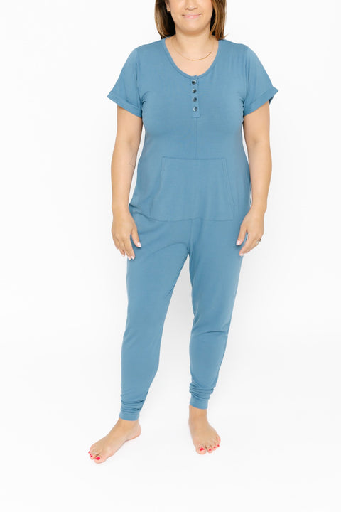 THE S+T ANYDAY ROMPER IN BECOMING BLUE
