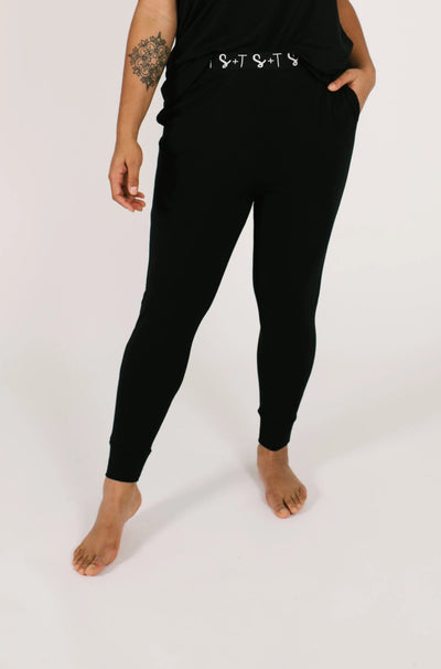 "The Sweetheart Joggers | Maya is 5'8"" and wearing a Large"