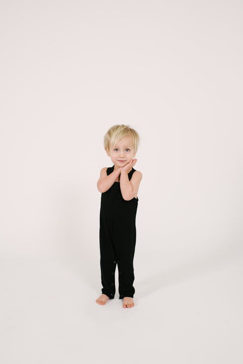 The Mini Romperalls | Code is wearing size 2T