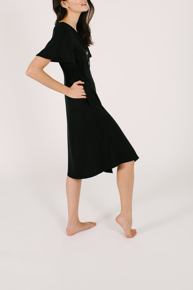 THE JANE DRESS IN BARELY BLACK
