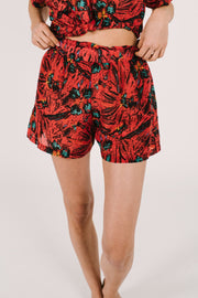 "The S+T SHORT AND SWEET SHORTS IN MAI TAI | Asel is 5'9"" wearing size XS"