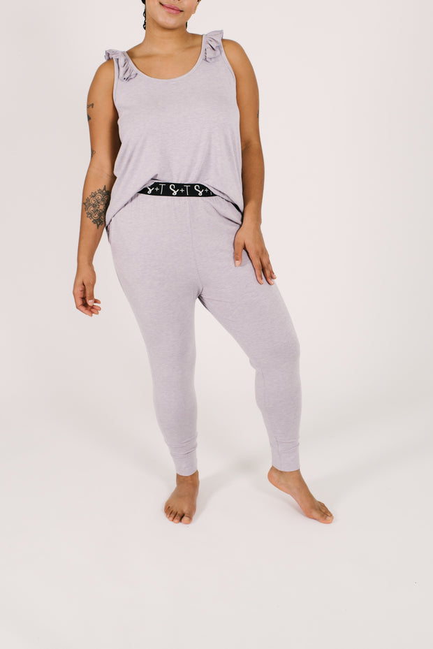 "The Sweetheart Joggers | Maya is 5'9"" wearing a Large"