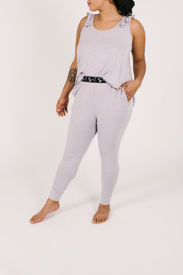 THE SWEETHEART JOGGERS IN LUCY LAVENDER