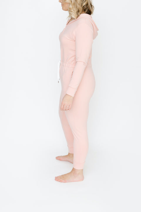 JH x SMASH + TESS - THE HARRIS HOODIE ROMPER IN PRETTY PINK