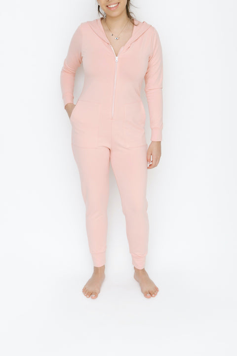 JH x SMASH + TESS - THE JILLY JOGGER ROMPER IN PRETTY PINK