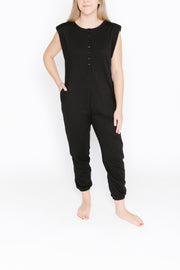 S+T x HILARY DUFF - THE BANKS ROMPER IN MIDNIGHT BLACK