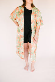 "The papaya duster | Robyn is 5'10"" wearing size XXL"