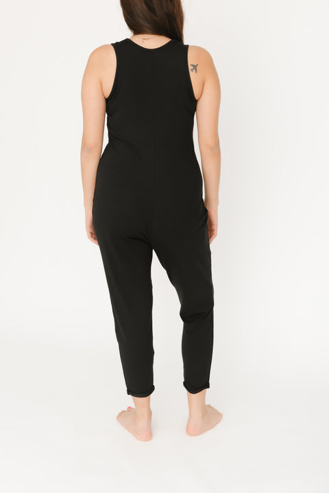 THE SATURDAY ROMPER IN MIDNIGHT BLACK