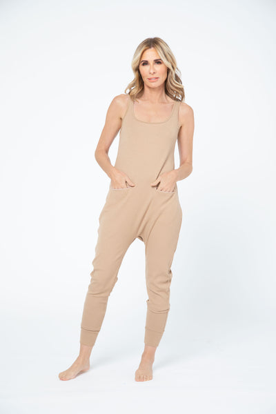 CR X S+T - THE SOHO ROMPER IN CLASSIC CAMEL